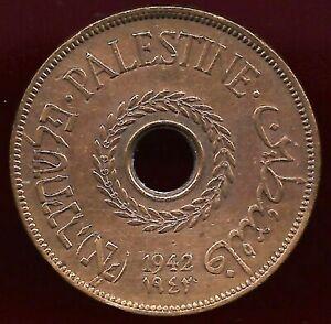 Palestine 1942 20 mils coin