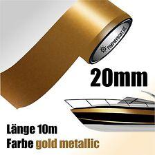 ZIERSTREIFEN 10m GOLD METALLIC 20mm Auto Boot Jetski Modellbau Vinyl