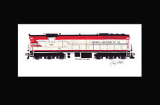 """Nevada Northern SD7 #401 11""""x17"""" Matted Print Andy Fletcher signed"""
