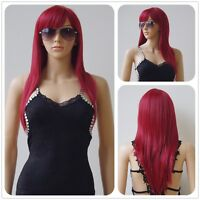 80cm Long Colors Straight Women Girl Anime Cosplay Wavy Hair Wig Halloween msh78