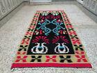 Handmade Vintage Moroccan Azilal Rug Berber Tribal Rug Wool Carpet 2.98 x 6.56