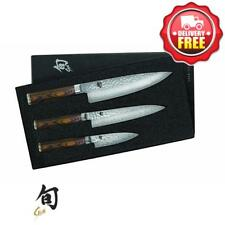 Shun Premier 3 Piece Chefs Knife Set| Handcrafted in Japan | TDMS300