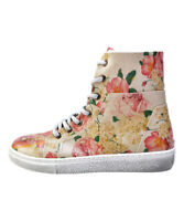 GOBY Women's Red & Pink Floral Hi-Top Fashion Sneakers Size US 7.5-8 EUR 38