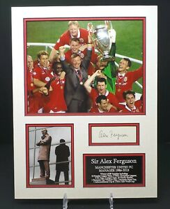 Alex FERGUSON Signed & Mounted Photo Display AFTAL RD COA Manchester Utd Manager