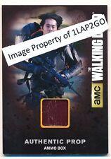 Walking Dead Season 4 Part 2 Authentic Ammo Box Prop Card M52 Glenn Free Ship