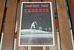 1968 N.Y. Yankees v California Angels Scorecard & Program