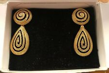 AVON VINTAGE WOVEN ELEGANCE COLLECTION EARRINGS 1992 NIB D20