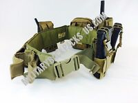 NEW USMC Coyote Brown Tactical Equipment Pouch WaR Belt Battle Gear Mag Radio 36