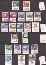 Israel Almost all of the 1970's Landscape MNH Tabs with later Phosphor Changes