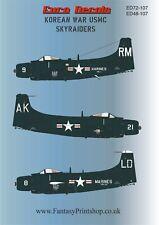 Euro Decals  Korean  War  USMC SKYRAIDERS  Decals  Transfers in 1/72  ED72-107