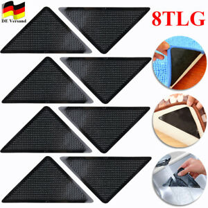8x Anti Rutsch Teppich Ecken Matte Antirutschmatte Teppich Stopper Waschbar Pads