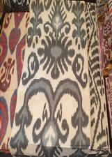 Uzbek traditional cotton woven ikat fabric by meter. Tribal, ethnic fabric. KT