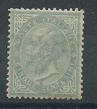 """1863 Regno d'Italia """"5 cent DE LA RUE-SASSONE L16"""" NUOVO LUSSO* Cert. FIECCHI"""