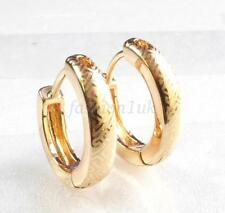 fashion1uk Patterned Creole Huggie Hoop Earrings 18K Gold Plated Small 14mm