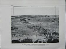 1918 WW1 WWI PRINT ~ THE THICK BELTS OF WIRE DEFENDING THE BELLICOURT TUNNEL