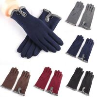 Gloves Comfy Soft Touch Screen Winter Thermal Fur Lined Thick Warm Ladies