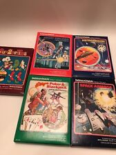INTELLIVISION Game Lot Of 4 Games Manuals Poker Space Armada Stalker Astromash