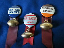 1950's - 1960's ERA NFL - THREE FOOTBALL TEAM BADGES / PINS