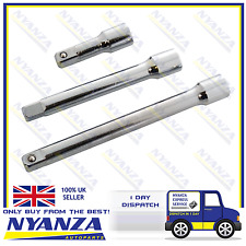 "3 PIECE 1/2"" DRIVE EXTENSION EXTENTION BAR SET FULLY POLISHED LENGTHS 3"", 6"", 9"""