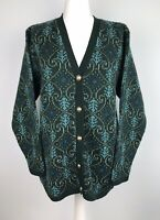 Vintage Edinburgh Collection Cardigan Size 14 16 Wth Wool Fugly Granny 80s