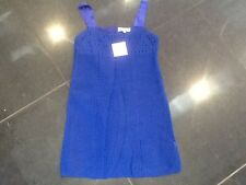NWT Juicy Couture New Genuine Girls Age 10 Blue Sleeveless Cotton Crochet Dress