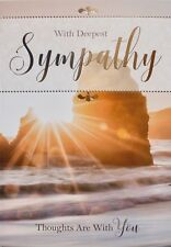 With deepest sympathy greetings card, sunset theme, suitable for anyone, new