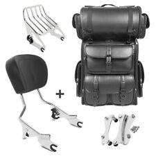 Sissybar w1 + bolsa popa para LX Harley Electra Glide standard 09-10 gepäcktr CH