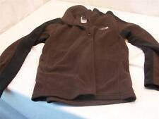 The North Face Boys Size L/G Dark Brown and Black Branded Quarter Zip Fleece guc