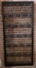 RARE Antique Chinese Carved Wood LATTICE PANEL  (Vtg Wall Art / Decor) 1 of 2