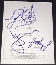 JERRY SEINFELD LARRY DAVID JASON JULIA CAST SIGNED AUTOGRAPH BIG SALAD EP SCRIPT