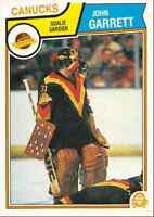 1983-84 O-Pee-Chee John Garrett Vancouver Canucks #349
