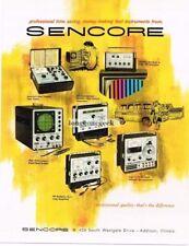 1966 Sencore TV Repair Test Equipment Vtg Print Ad