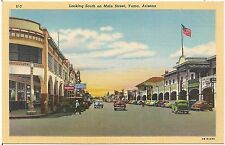Looking South on Main Street in Yuma AZ Postcard