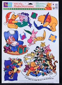 One (1) 12 In. X 17 In. Sheet ~Winnie the Pooh~  Christmas Window Cling Sheet
