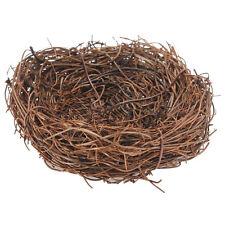 Handmade Vine Twig Bird Nest Home Nature Craft Holiday for Photo Garden Dec T3K8