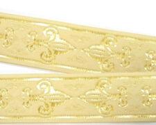 1,16€/m 10m Französische Lilie Borte 50mm breit Farbe: Beige