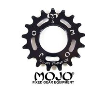 MOJO 17T FIXED GEAR COG - BLACK ANODIZED Cro-Mo TRACK 17 TOOTH 1/8 INCH CNC