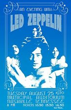 Led Zeppelin 1970 Tour Poster