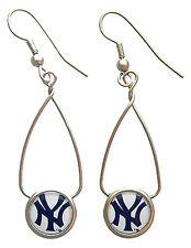 New York Yankees MLB Loop Logo Earrings