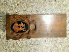 Bellagio Sliding Adjustable Bookend Wood/Cypress - Rare (Missing one end)