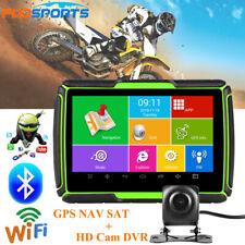 Car Motorcycle GPS Navigation Bluetooth Android Motorbike SAT NAV Free Map + DVR