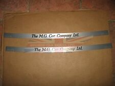 Brand New Pair of Brushed Alloy Threshold Sill Covers for MG TC TD TF T Type