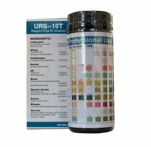 Bastex Urine Test Strip 10 Parameters 10 Pack, Total 1000 Strips
