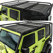 Cargo Roof Rack System Base+Top Cross Bar for 07-18 Jeep Wrangler JK 4 Door