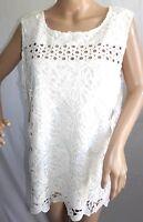 Skye's the Limit Women Plus 1x 2x 3x Egret Off White Cut Out Floral Top Blouse