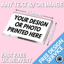 More details for 50 x 35mm custom printed magnet • personalised fridge magnets medium size print