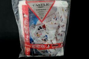 Dundee Disney Babies Crib Dust Ruffle Skirt Mickey Minnie Donald Pluto Goofy NEW