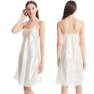 Sexy Women Ladies Satin Silk Nightdress  Lingerie Sleepwear Wrap Dress Robe