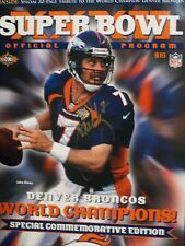 John Elway Signed Super Bowl XXXII Champions Book Program LE W/COA Fox Asst Inc