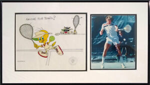 Jimmy Connors HAND-SIGNED Anyone for Tennis? S/O Sericel Tweety Tennis Signature